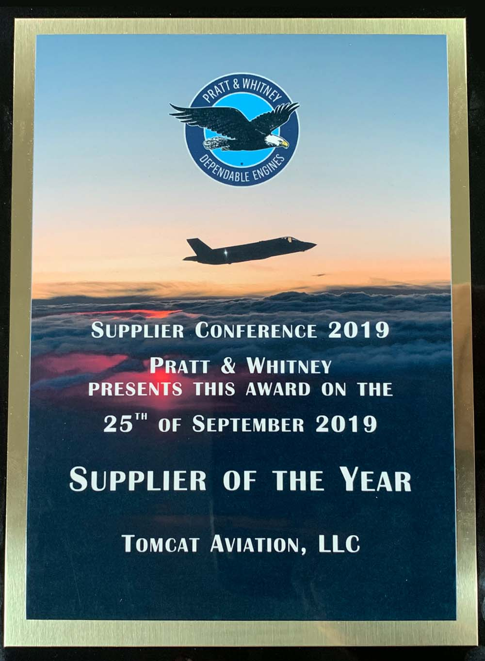TOMACT AVIATION Supplier of the Year